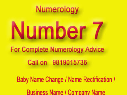 Number 7 NUmerology Baby Name NUmerology Best Numerologist Mumbai.